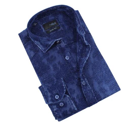 Eight-X Denim Floral Jacquard Shirt