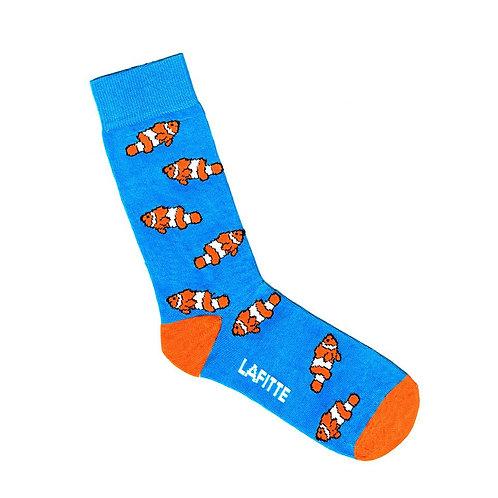 Clown Fish / Nemo Sock - Blue or Black