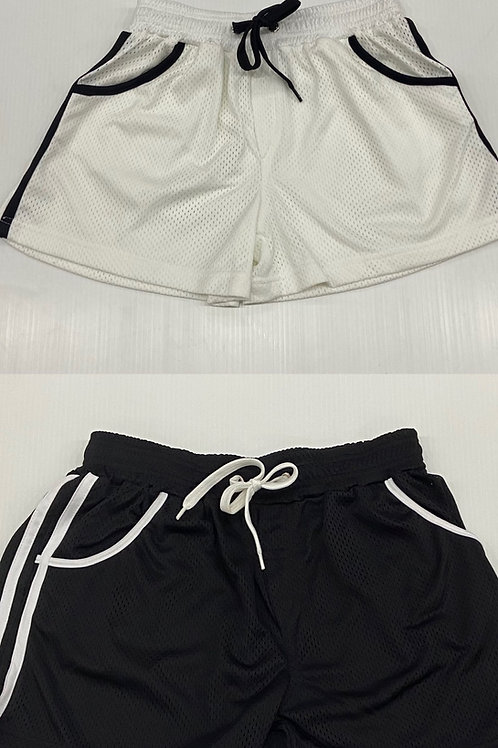 Daly Male - Lined Mesh Shorts - Black or White