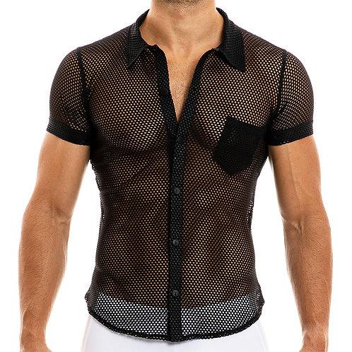 Modus Vivendi - Mesh Camouflage Shirt - Black