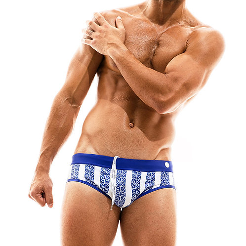 Modus Vivendi - Tyres Swimwear Brief - Blue & White