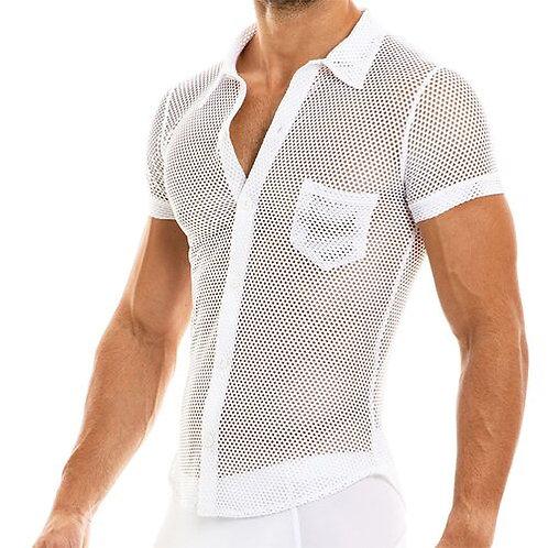 Modus Vivendi -CAMOUFLAGE SHIRT-White
