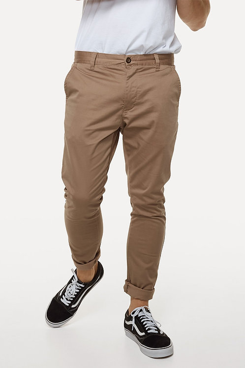 The Cuba Chino Pant - Charcoal or Caramel