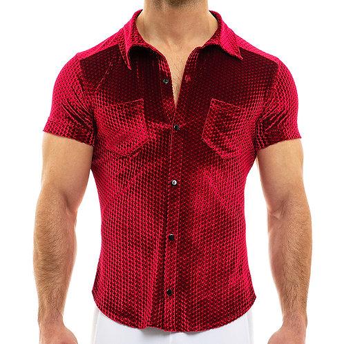 Modus Vivendi - Tiffany's Velvet Shirt - Wine Red