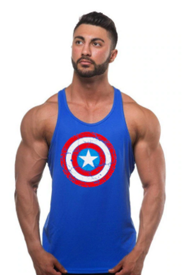 Captain America Singlet - 3 Colours