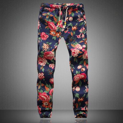 Floral Linen Pants