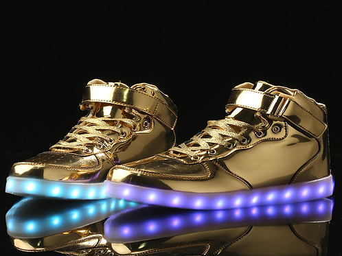 Light Up Hightop Shoes - 3 Colours