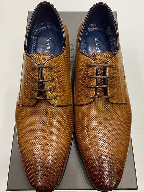 Martino Carolus: Dark Tan Leather Lace-Up Dress Shoe