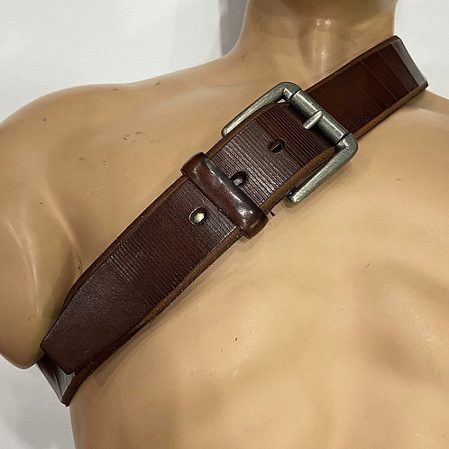 Mr Selby: Italian Leather Belt - Chocolate Brown