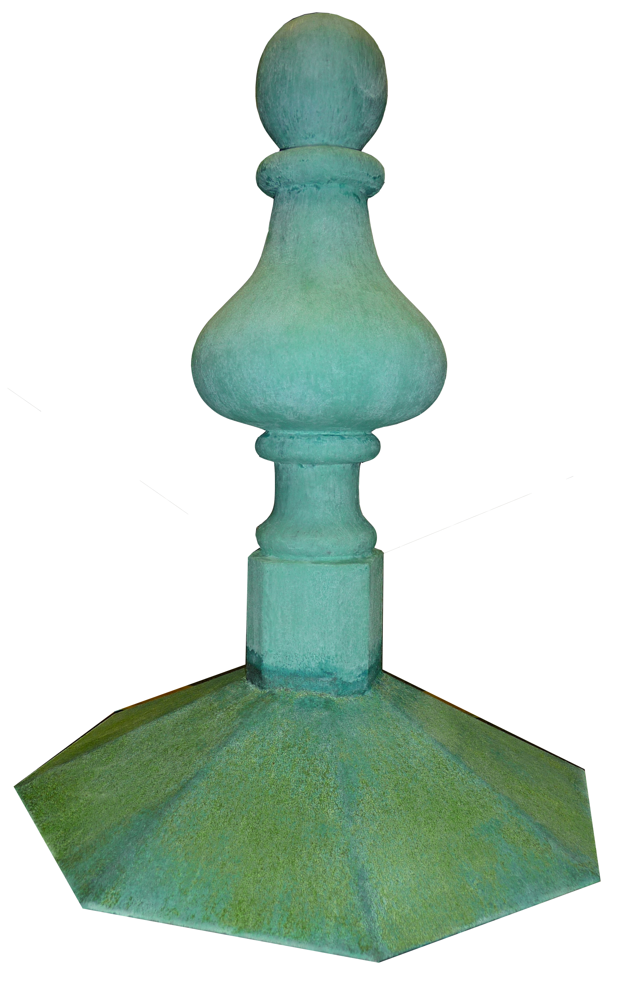 Copper effect Baroque finial