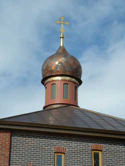 Church cupola with finial