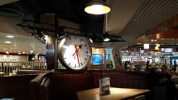 Interior clock for restaurant