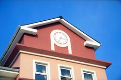 Modern dial exterior clock