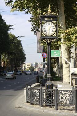 Ornate pillar clock