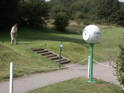 Golf ball clock on 1st tee