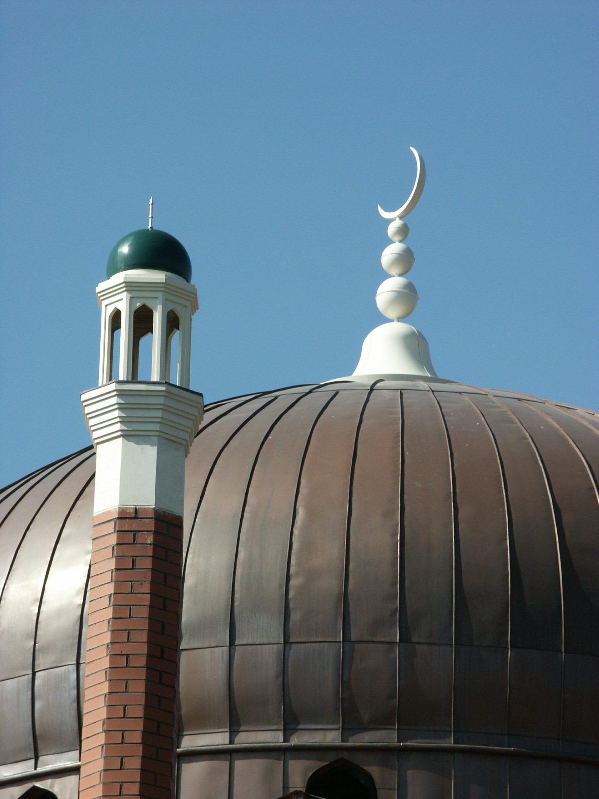 Crescent moon finial