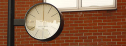 Drum clock with modern dials