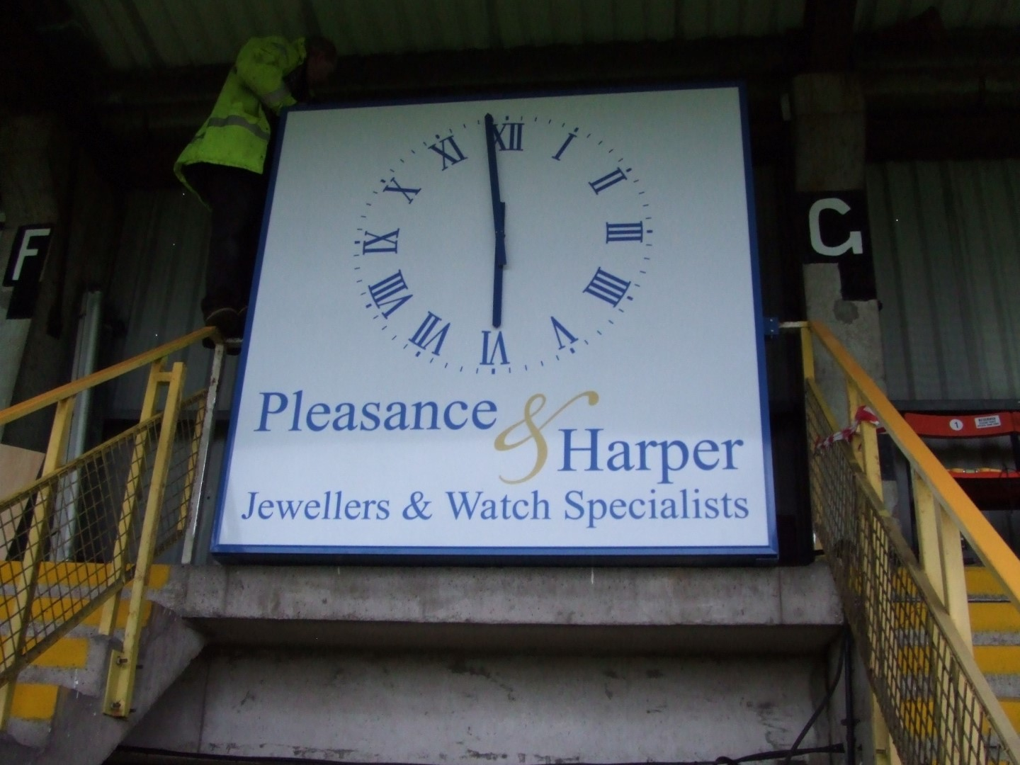 Sponsored clocks for football clubs
