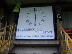 Sponsored clocks for football clubs