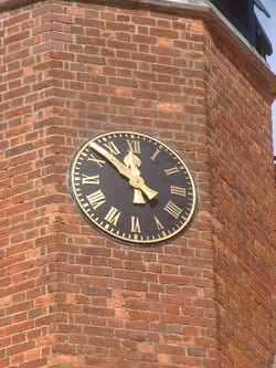 Large outdoor clock for school