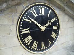 Restored clock face