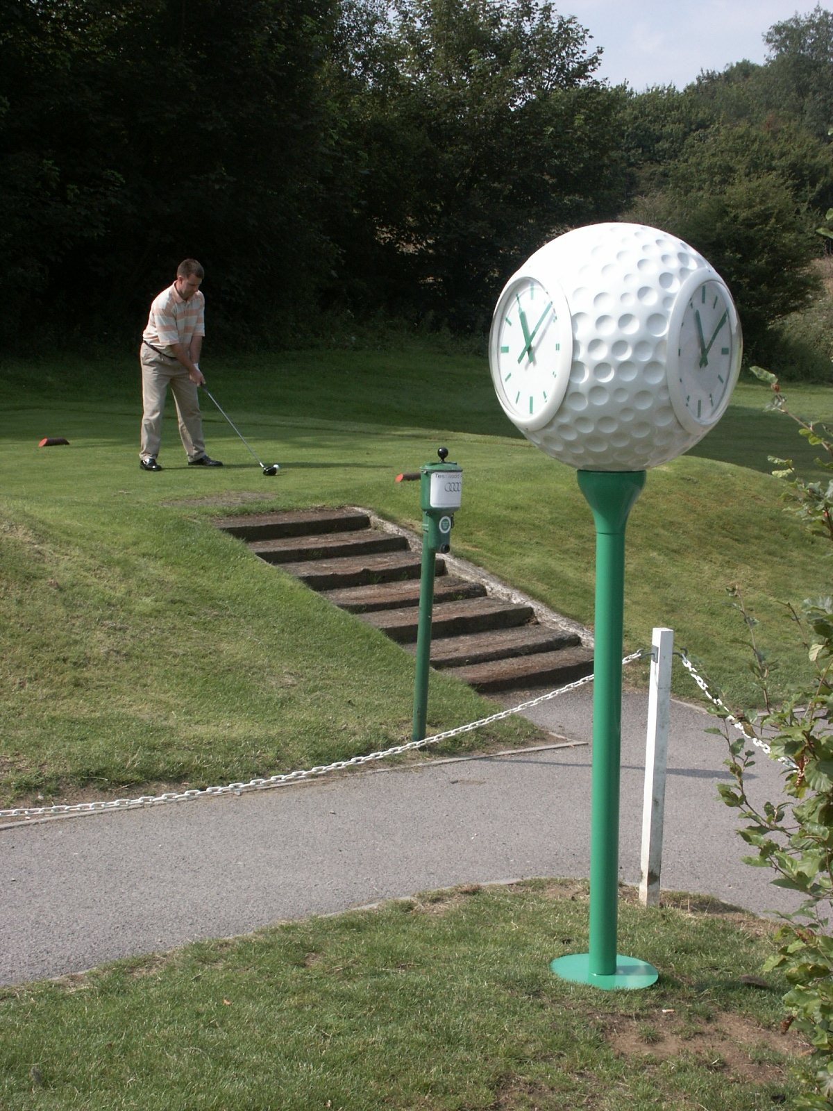 Clock on golf course
