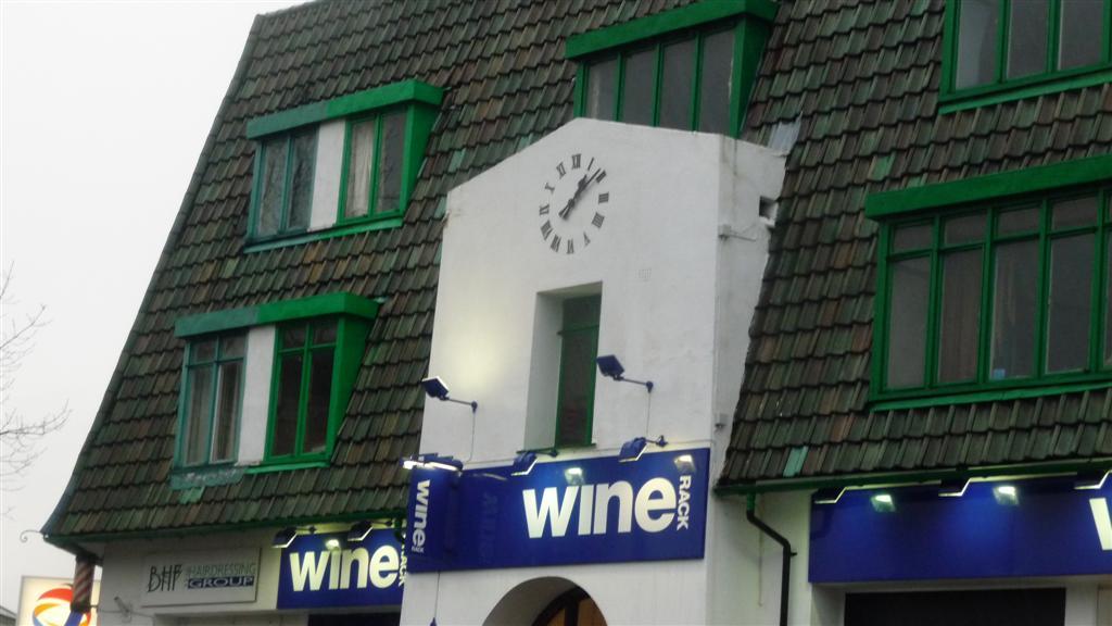 Wine Rack shop clock
