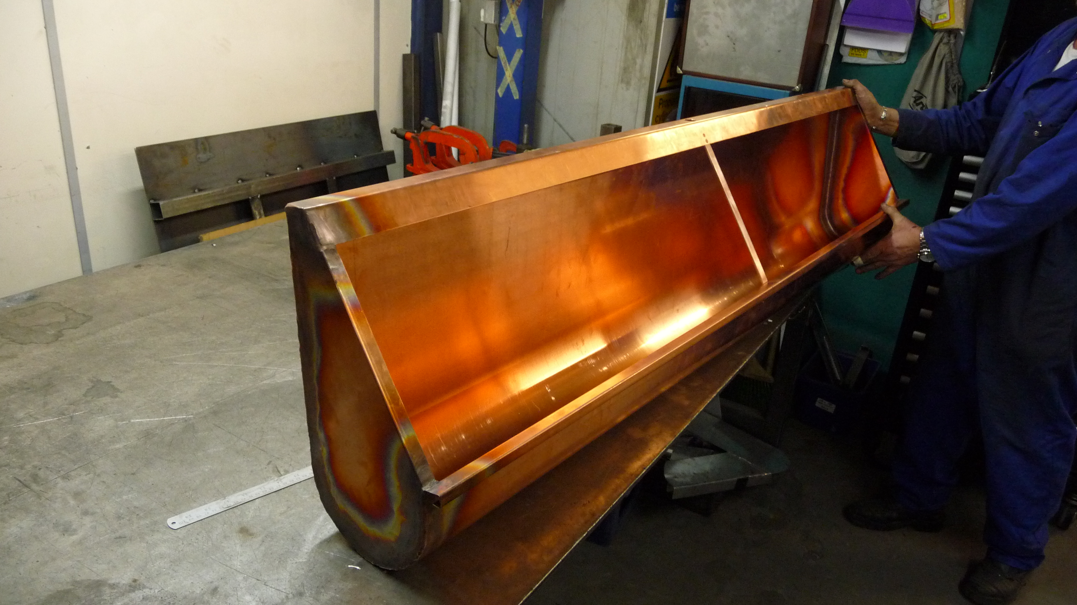 Bespoke copper urinal