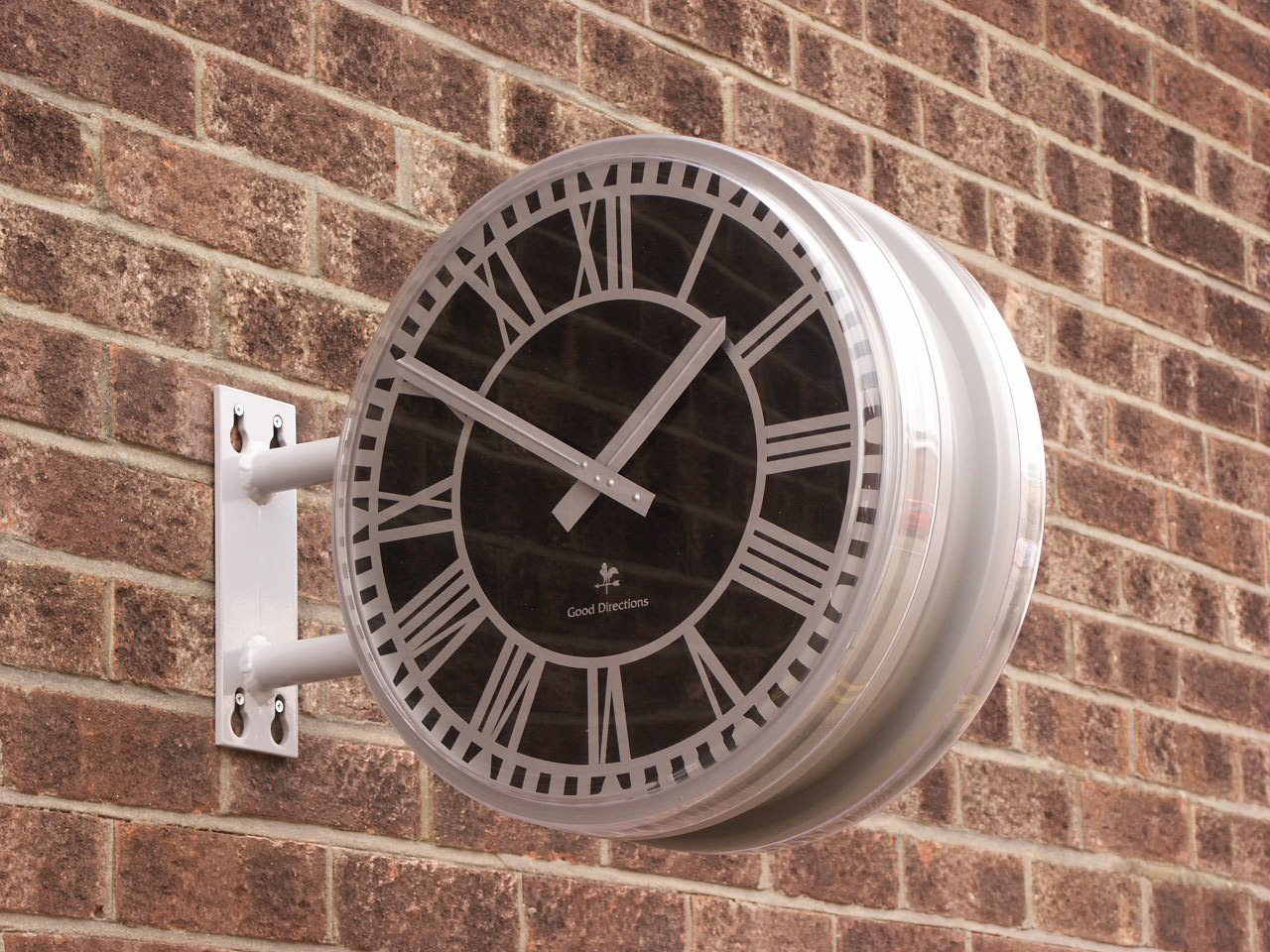 Small double sided drum clock