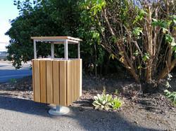 Kara bin with lid in park