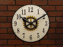 Clock with Rotary logo