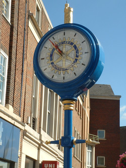 Rotary sponsored pillar clock