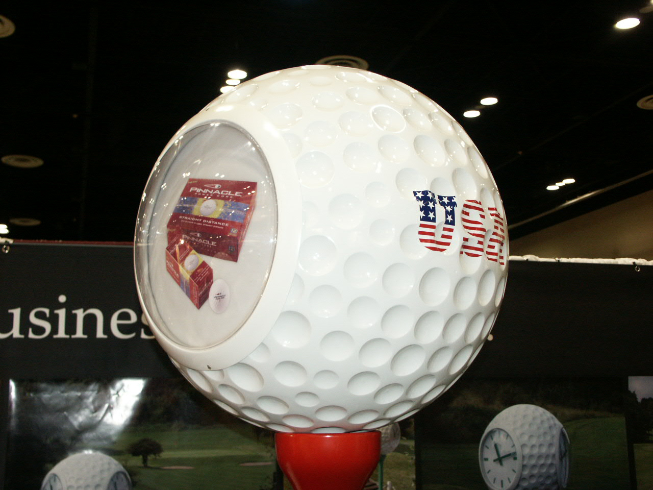 6ft golf ball with signage