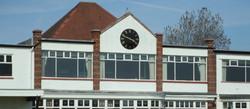 Cricket pavilion clock