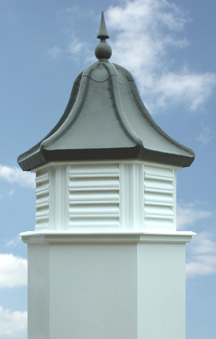 Hexagonal roof turret