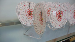Formed acrylic clocks with printing