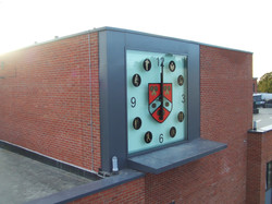 Vinyl graphics for clock