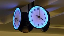 LED illuminated clocks