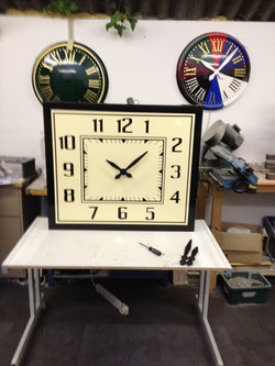 Bezel Clock for mounting on a wall