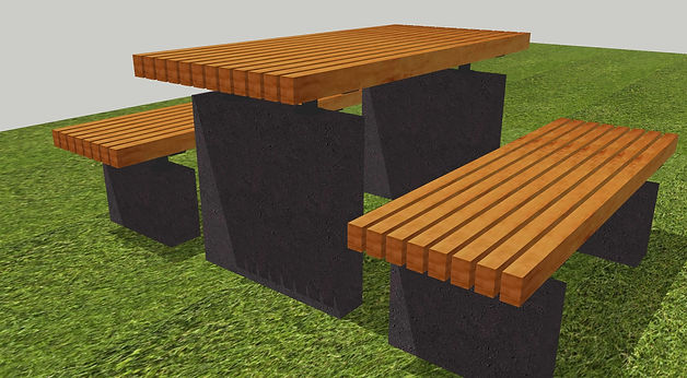 Picnic tables for parks