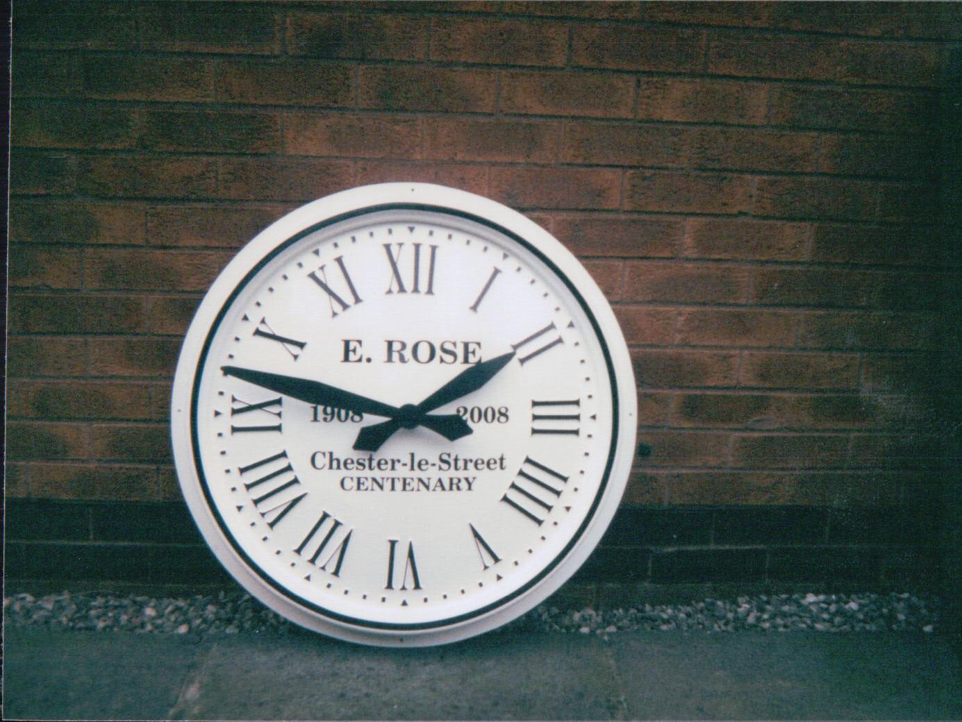 White Roman Devon External Clock