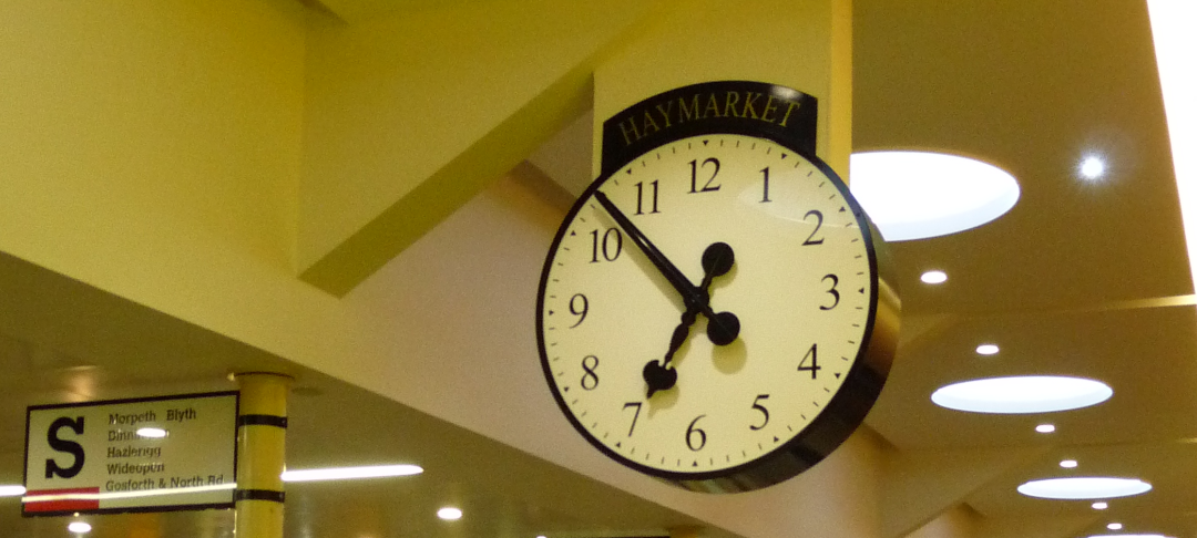 Shopping precinct clock