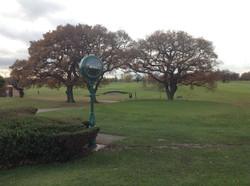 Bespoke short golf club clock