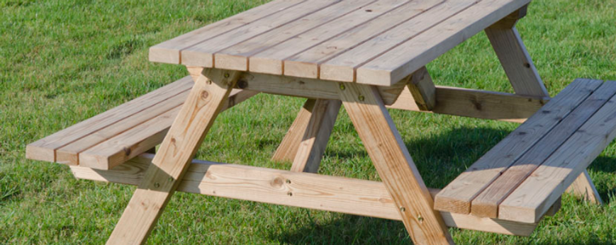 softwood picnic tables