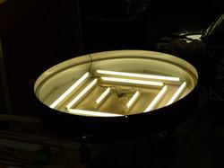 Lighting inside a clock bezel