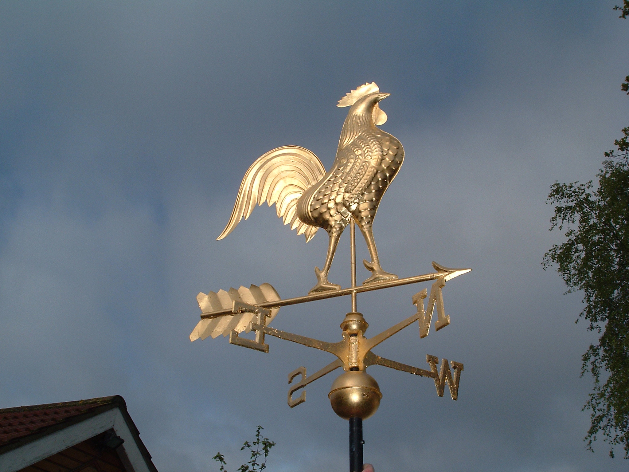Weathervane - Fully Gilded Rooster