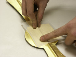 Gold leafing clock hands