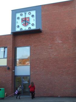 Large Outdoor Clock for a School