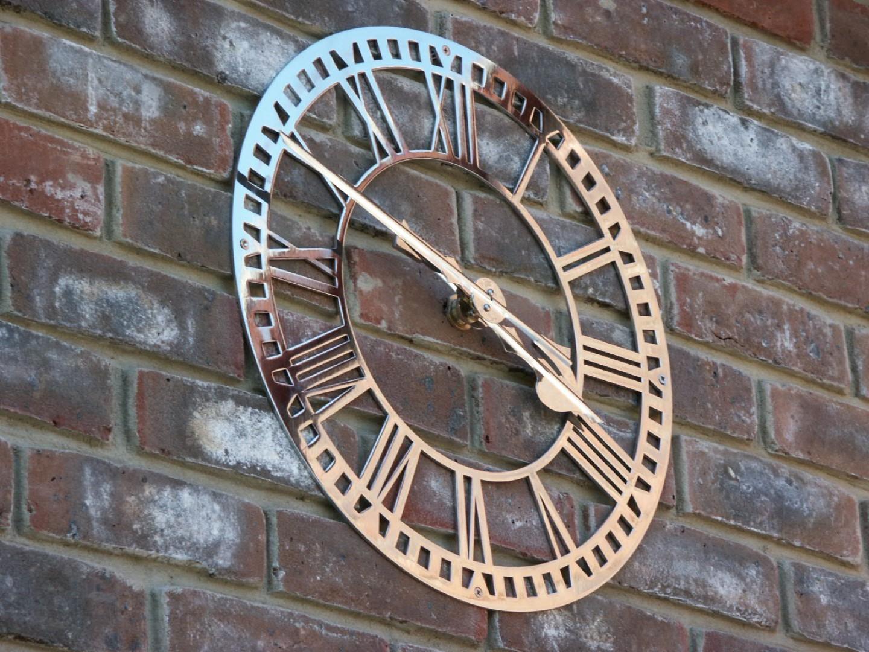 Stainless Steel Skeleton Clock