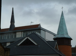 Church spire roof